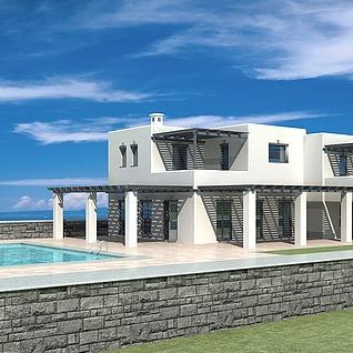 海景别墅整体模型