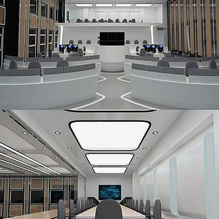 公安局指挥中心3d模型
