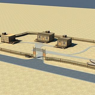 新疆小村庄整体模型