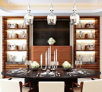 西式餐厅餐桌椅