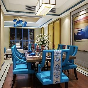 现代风格客餐厅模型3d模型