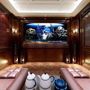 欧式客厅全景整体模型