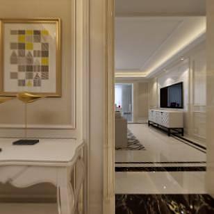 新古典客厅全景整体模型
