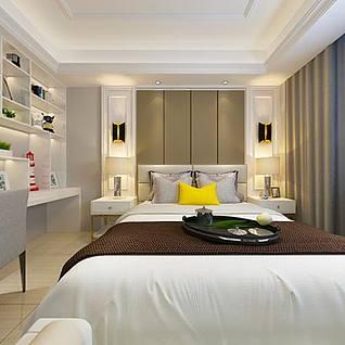 现代卧室整体模型