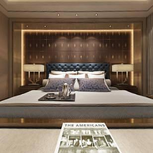 卧室现代整体模型