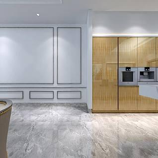 厨房全景整体模型