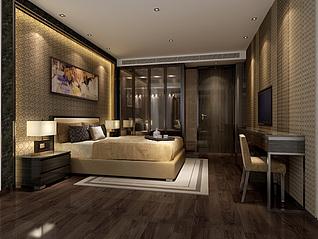 现代风格卧室家装模型