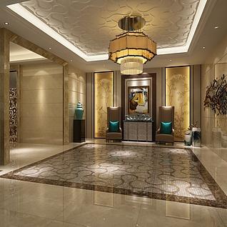 电梯厅整体模型