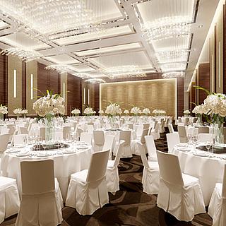 酒店宴会餐饮大厅整体模型