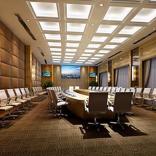 现代风格会议室整体模型