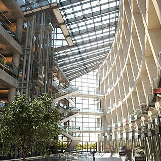 现代商场大堂整体模型