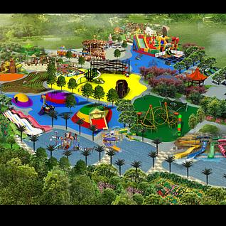 儿童游乐场3d模型