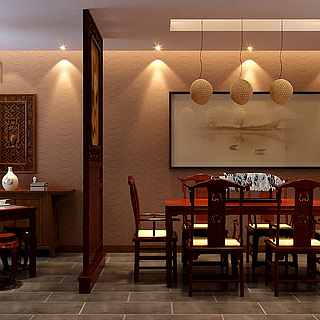 <font class='myIsRed'>中式餐厅</font>整体模型