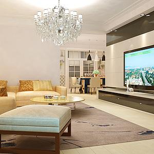 客厅模型3d模型