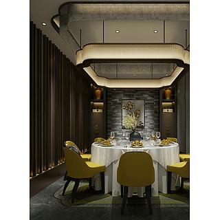 餐厅包房整体模型