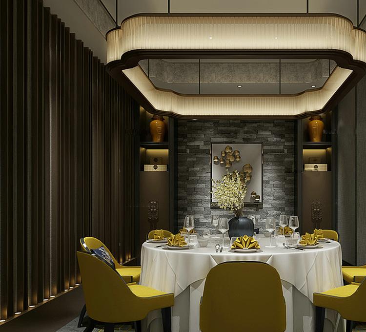 餐厅包房模型