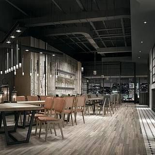 现代餐厅整体模型