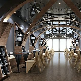 咖啡馆整体模型