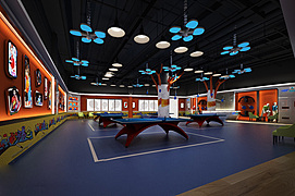 乒乓球室整体模型