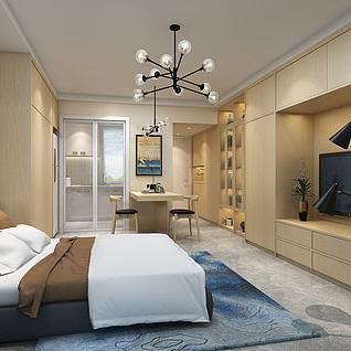 酒店式公寓3d模型