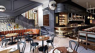 现代风格餐厅工装模型