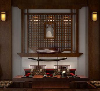 日式客厅茶室