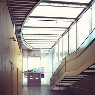 现代商场楼梯整体模型