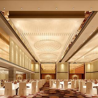 大型宴会厅整体模型