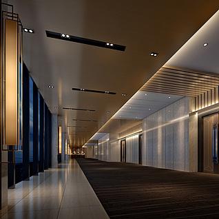 宴会厅走廊整体模型
