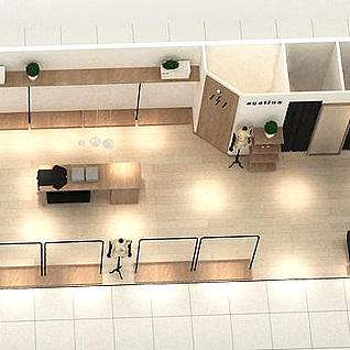 简洁服装店3d模型