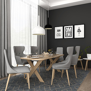 餐厅3d模型