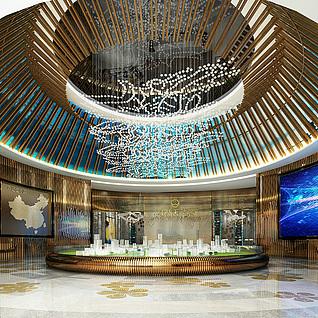 桂林万达城售楼部整体模型