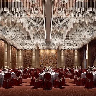 豪华宴会厅整体模型