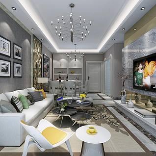 时尚客厅3d模型