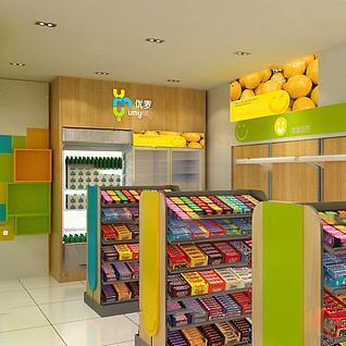 商场超市整体模型