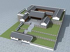 中式院落3D模型
