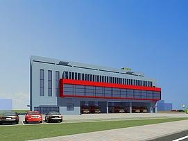 消防办公楼整体模型