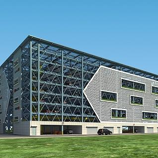 室外建筑3d模型