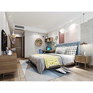 臥室家裝模型