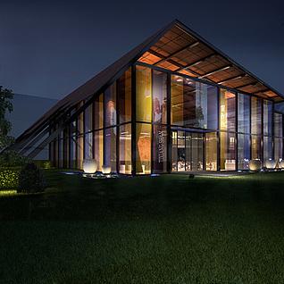 室外建筑整体模型