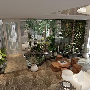 阳台花园整体模型