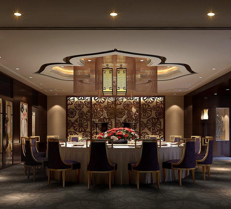 现代豪华餐厅模型