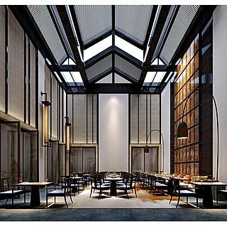 中餐大厅整体模型