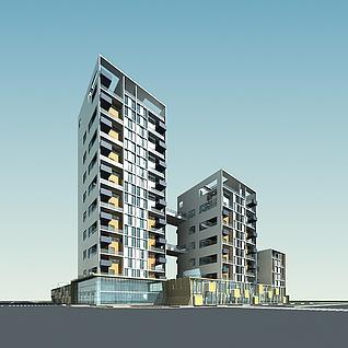 多层住宅整体模型