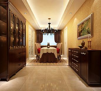 家装,室内,场景,餐厅,欧式简欧新奢华