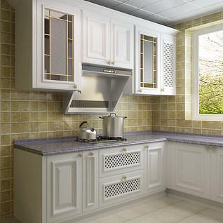 欧式厨房整体模型