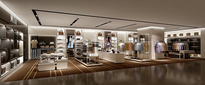 现代服装品牌专卖店整体模型