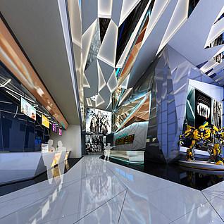 电影院大厅整体模型
