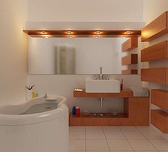 现代洗手间