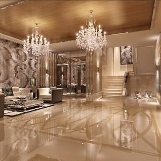 现代豪华装修大厅前台休息区整体模型